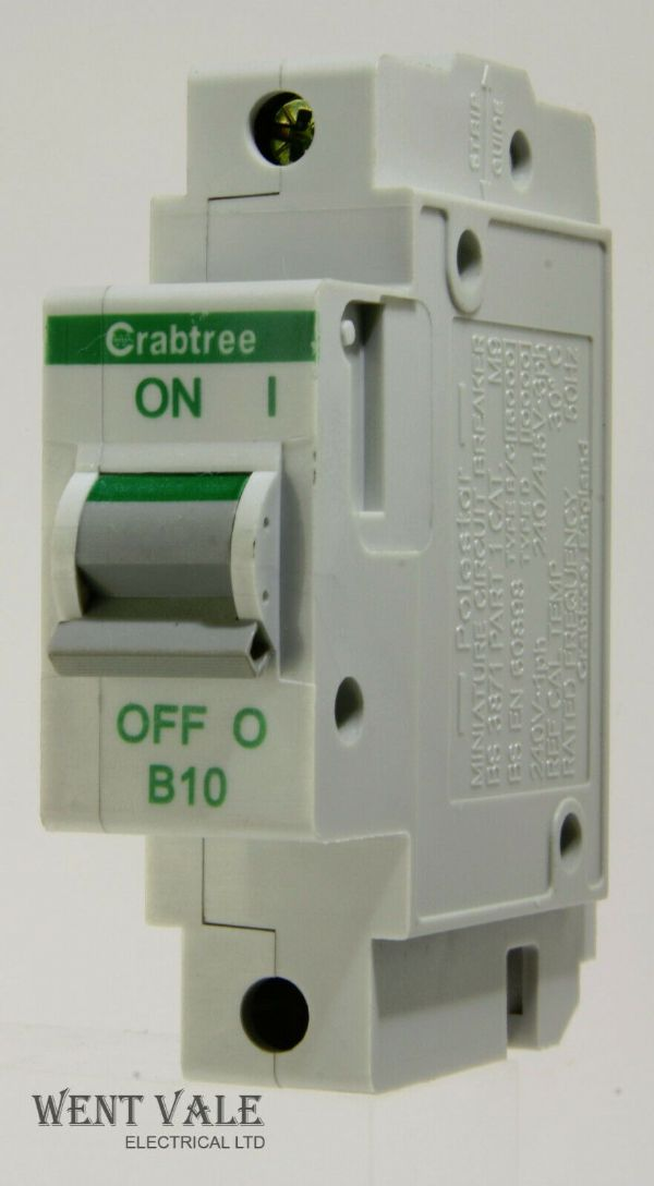 Crabtree Polestar - 60B/10 - 10a Type B Single Pole MCB Used